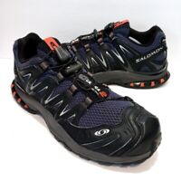 Salomon XA3D Ultra 2 Black Blue Trail Hiking Running Shoes - Men's Size 9