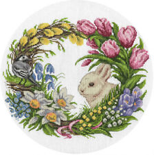 "Counted Cross Stitch Kit PANNA - ""Spring Wreath"""