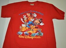 """Walt Disney World """"A Vacation to Remember"""" T Shirt Red Small Printed Front Back"""