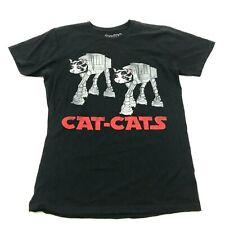 CAT-CATS Star Wars Theme Cat Shirt Size XL 1X Adult Black Short Sleeve Animal