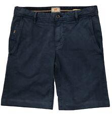 Men's Hugo Boss Orange Chino Navy Blue Short Trousers Regular Fit Size 30