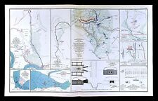 Civil War Map Five Forks Fort Burnham Casemate Cape Fear Bentonville James River