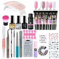 26pcs/kit Nail Extension Polygel Set Gel Polish Lamp Brush Acrylic Polygel Kit