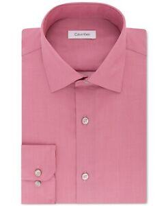Calvin Klein Men's Steel Non Iron Dress Shirt 18.5 - 34/35 Big NWT Antique Rose