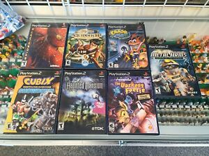 PlayStation 2 VIDEO GAMES LOT (7) Sony PS2 Metal Arms Spider-Man Neopets Crash