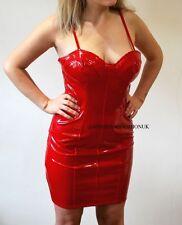 New Red PVC Dress Size M UK 10