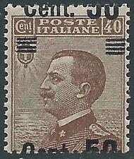 1923-27 REGNO EFFIGIE SOPRASTAMPATO 50 SU 40 CENT VARIETà MNH ** - P47-8