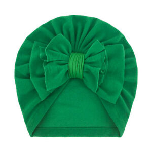 Children's Polyester Cotton Bowknot Turban Cap Baby Photography Props Beanie Hat