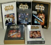 Star Wars - 5 VHS Videos - With Cases/Slip Cases - 4 Sealed/Brand New.