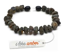 RAW Baltic Amber Bracelet & Necklace Genuine Amber Beads Adult Size SET possible