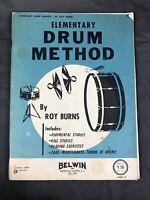 Elementary Drum Method By Roy Burns (1962) Instruction Book School Paperback VTG