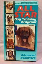 ALL STAR DOG TRAINING PROGRAM - 1991 VHS - ADVANCED TRAINING PROGRAM