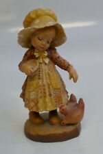"""Anri """"Feeding The Chickens"""" Figure By Sarah Kay 4 """" Near Mint Store Display"""