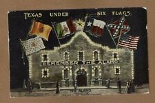 San Antonio,TX Texas, Under 6 Flags  Remember The Alamo, used 1910