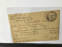 David Nutt Foreign Bookseller London to Brussels 1897 stamps card Ref R25781