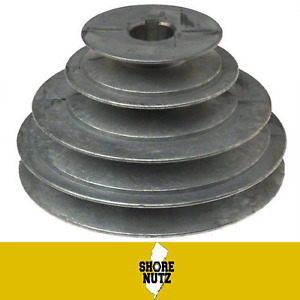 """4 STEP PULLEY #147 2"""" 3"""" 4"""" 5"""" X 5/8 BORE 3/16 KEYWAY FOR 1/2"""" BELT"""