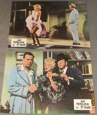 SEVEN YEAR ITCH Lobby Card Size 8x12 Movie Poster German Set of 6 MARILYN MONROE