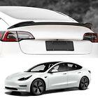 Tesla Model 3 Spoiler Wing Performance Rear Trunk Lip Tail Lid Black