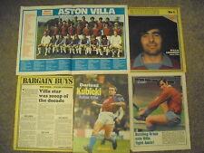 Job Lot 5 ASTON VILLA  Football Magazine Cuttings C1970'S WILLIE ANDERSON TILER