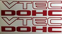 "i-VTEC DOHC (2 PACK) 9"" RED emblem Vinyl Sticker Honda Civic Decal Euro Drift"