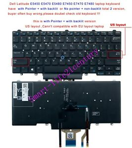 Keyboard for Dell Latitude E5450 E5470 E5480 E7450 E7470 E7480 laptop US Backlit