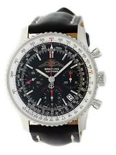 Breitling Navitimer A23322 41mm Steel Leather Strap Mens Watch A233222P/BD70