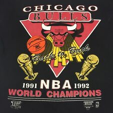 Vintage 1991 1992 World Champions Chicago Bulls Basketball T-shirt NBA Jordan