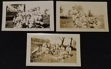 1930/40's - SHAWINIGAN FALLS, QUE, CANADA - BASEBALL TEAM - PHOTO (3) - ORIGINAL