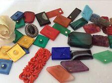 Vintage Flatback Cabs jewellery Glass Art repair Craft Pack of 40 VALUE PACK