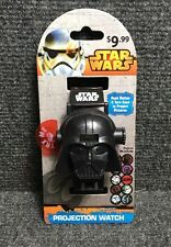 New  Disney Star Wars Darth Vader 10 Picture Display Projection Watch Black
