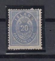 E3077/ ICELAND – Y&T # 14aA MINT NO GUM CERTIFICATE – CV 715 $