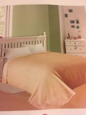 """Solaron Korean Blanket throw Original Mink silky king size Beige Tan 87"""" x 94"""""""