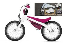 Original BMW Kidsbike Laufrad-Kinderfahrrad Weiß Himbeerrot + BMW Malbuch+Kreide