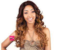 BS207 - ISIS Brown Sugar Human Hair Style Mix Soft Lace Wig LONG WAVY