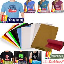 """SISER Variety Sampler Heat Transfer Vinyl (HTV) Pack of TWELVE 12x15"""" & 12x20"""""""