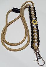 New Orleans Saints Gold, Black & White Paracord Lanyard OR Bracelet OR Key Chain