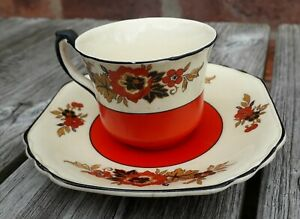 """WEDGWOOD & CO. """"Richelieu """" Pattern Coffee can and saucer"""
