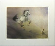 """Kaiko Moti """"The Steed"""" HAND SIGNED ARTWORK Original Color Etching MAKE AN OFFER!"""