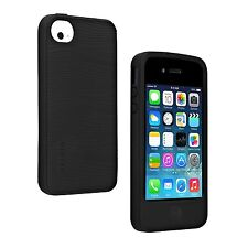 Belkin Black Silicone Skin Fitted Grip Groove Cover Case For iPhone 4 / 4S