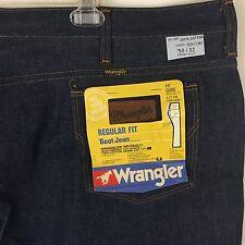 Vtg Wrangler Sanfor Set Regular Cut Boot Jeans 50x32 NOS Stiff Denim Ideal Zip