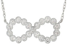 Lovely & Delicate Bella Luce (R) .77ctw 10k White Gold Infinity Necklace