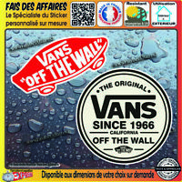 2 Stickers autocollant Vans off the wall sponsor decal