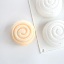 Round  Silicone Soap Mold 6 Cavities Mousse Cake Mould Soap $m