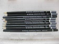 Graphite Pencils and Compressed Graphite Sticks Lot with Case