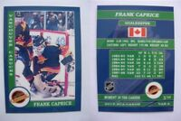 2015 SCA Frank Caprice vancouver canucks goalie never issued produced #d/10