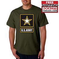ARMY LOGO MILITARY GREEN T-SHIRT United States Usarmy Shirt Ranger Shirt Tshirt