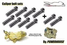 Aprilia Stainless joint bolts set Brembo Goldline front & rear brake calipers