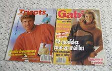 LOT de 2 anciens catalogues tricot Diana n° 5 et Gabi n° 13/Années 80