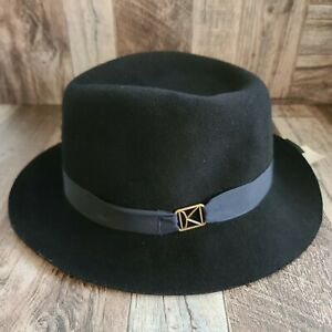 Kangol Kross Arnold Trilby Hat in Black Size Large NWT