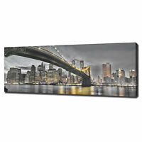 MANHATTAN BROOKLYN PANORAMIC CANVAS PRINT PICTURE WALL ART VARIETY OF SIZES